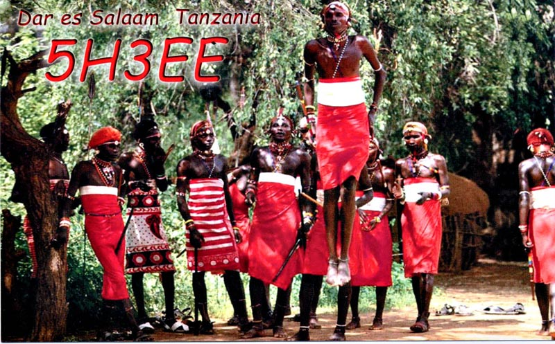 Танзания 5H3EE QSL 1