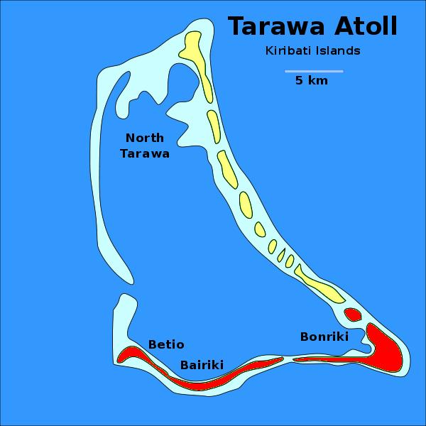 Tarawa Atoll T30D Kiribati Map