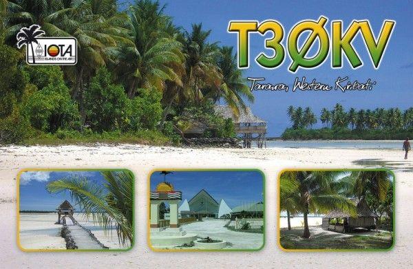 Tarawa Island Kiribati T30KV QSL