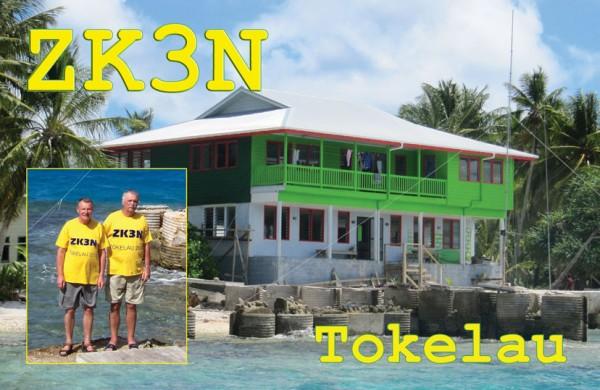 Остров Токелау ZK3N QSL