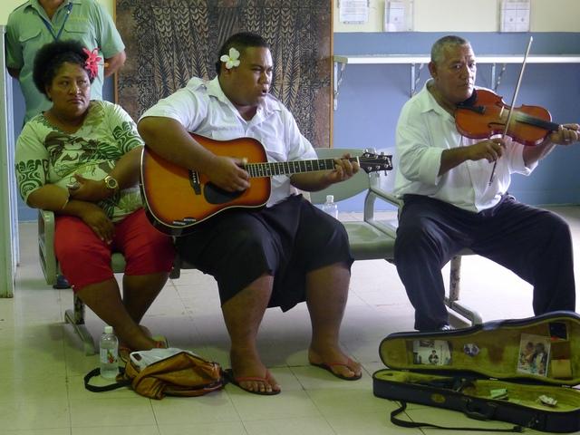 Королевство Тонга A35YZ Прибытие Музыканты