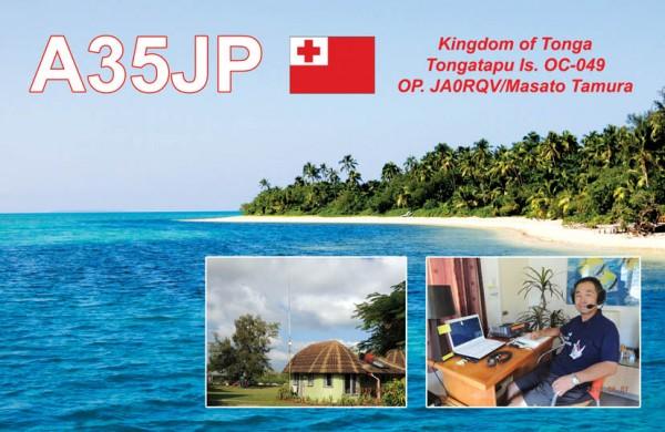 Tongatapu Island A35JP QSL
