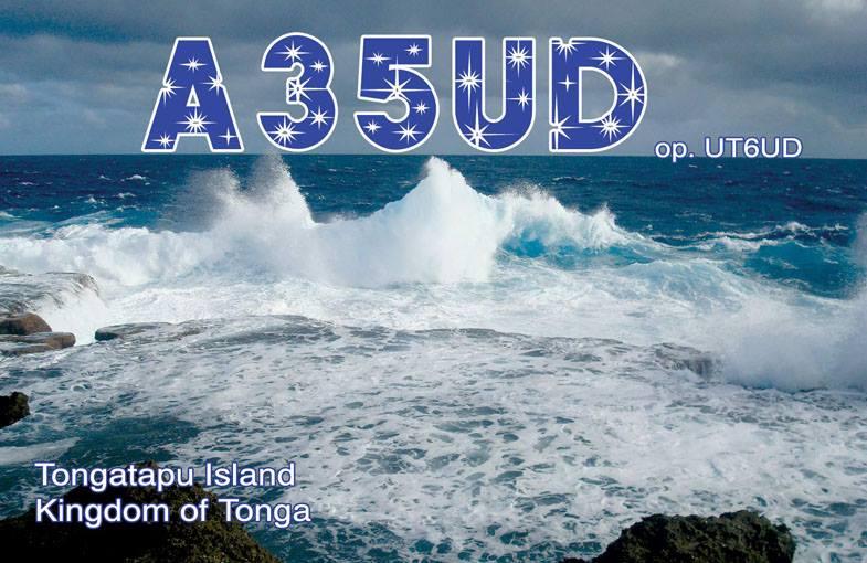 Tongatapu Island A35UD QSL Kingdom of Tonga