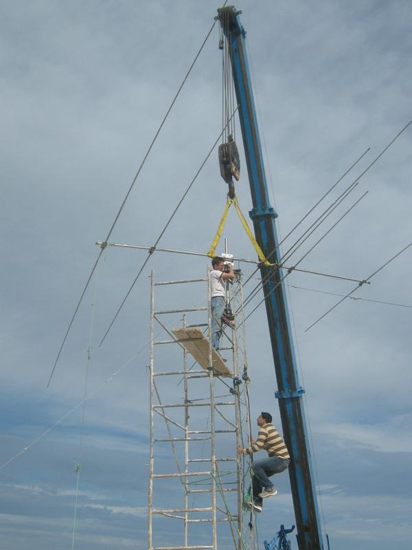 Tunisia 3V3A Antenna Crane