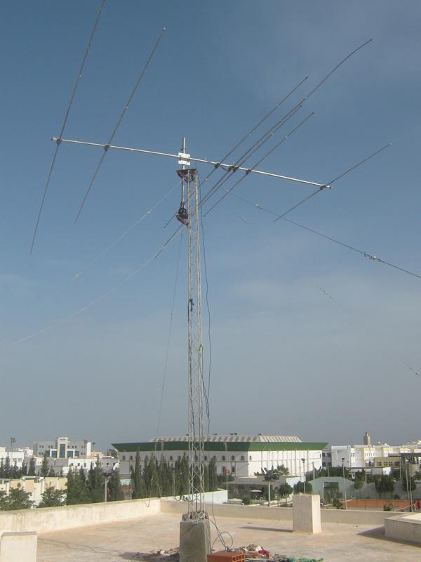 Tunisia 3V3A Antenna Ready