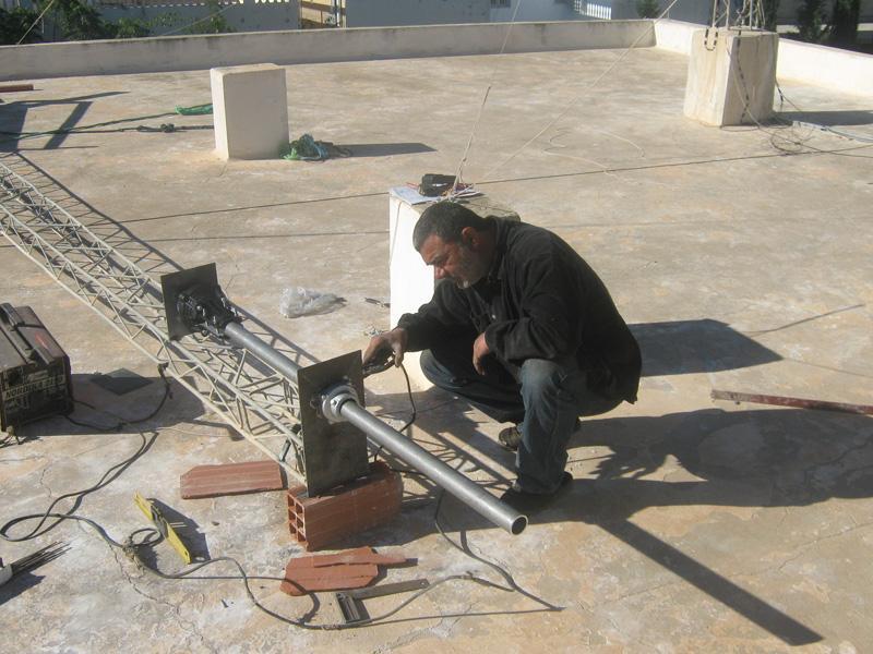 Тунис 3V3A Сборка Антенны
