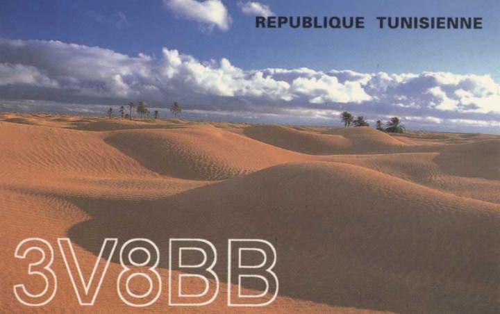 Tunisia 3V8BB QSL