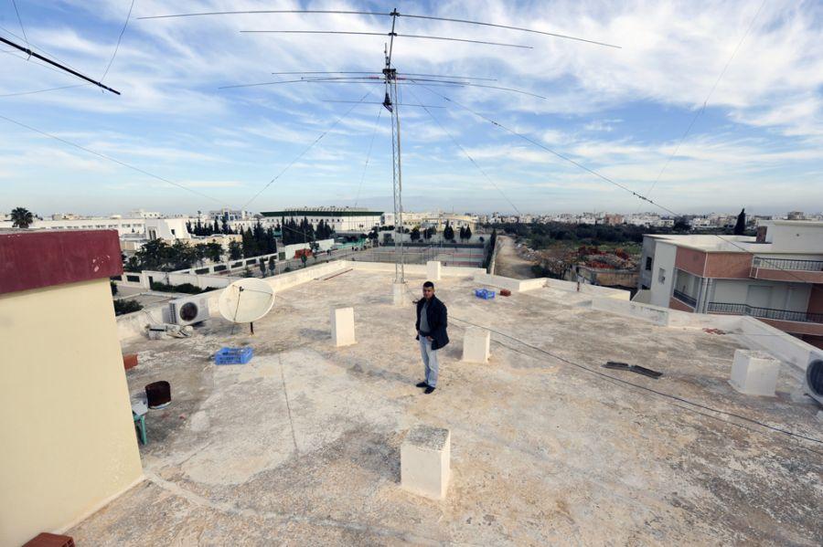 Тунис KF5EYY 3V8SS Крыша коллективной радиостанции