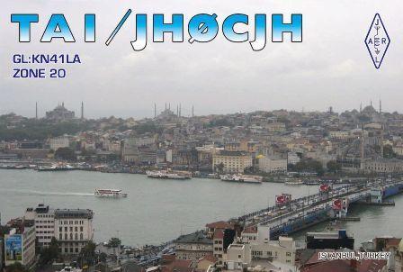 Turkey TA1/JH0CJH QSL 2