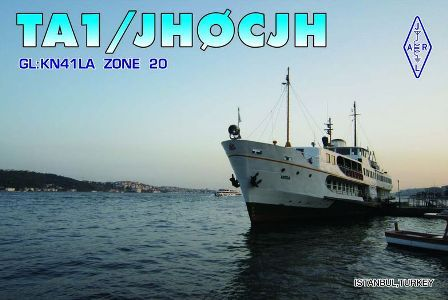 Turkey TA1/JH0CJH QSL