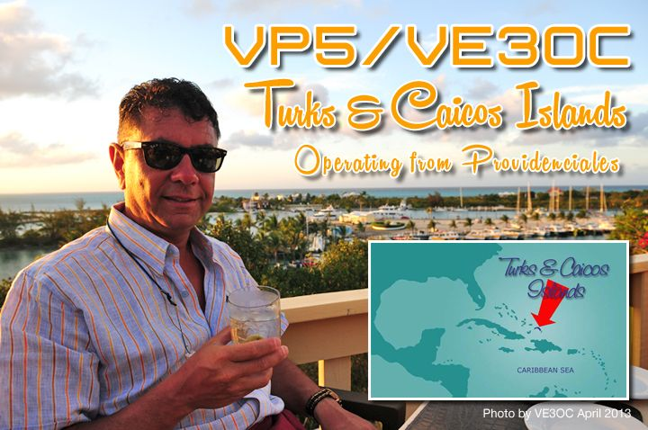 Turks Caicos VP5/VE3OC DX News