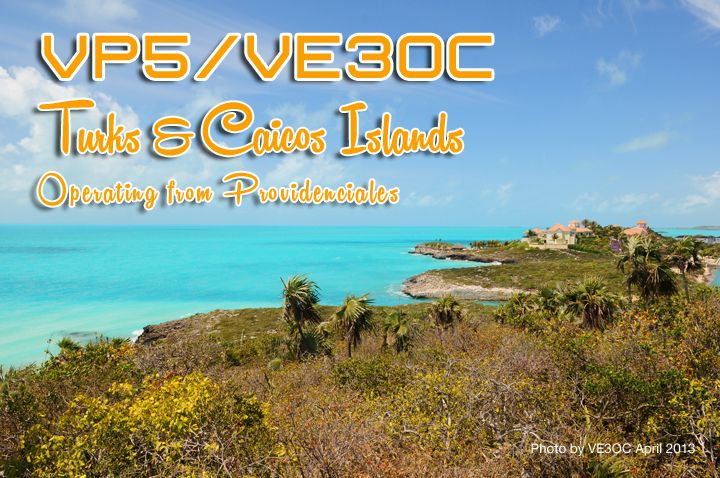 Turks and Caicos Islands VP5/VE3OC DX News