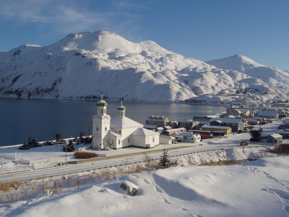 Остров Уналашка NL8F Русская Аляска Православная Церковь на Аляске