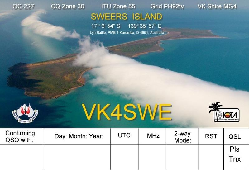 Sweers Island VK4SWE DX News IOTA Contest 2011