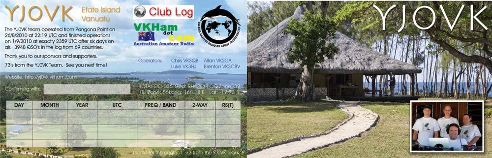 Vanuatu YJ0VK QSL 1