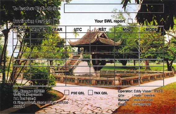 Vietnam 3W1T QSL DX News
