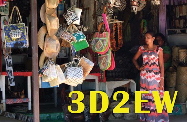Остров Вити Леву Острова Фиджи 3D2EW QSL