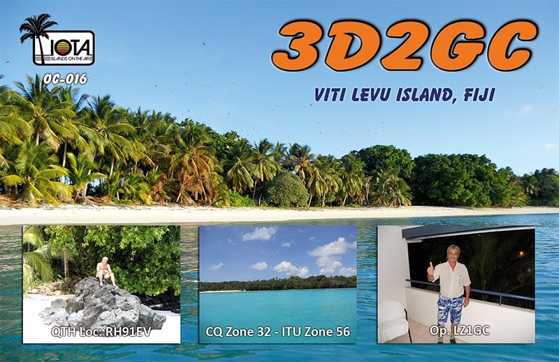 Viti Levu Island Fiji 3D2GC QSL