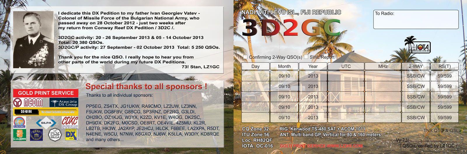 Viti Levu Island 3D2GC Fiji