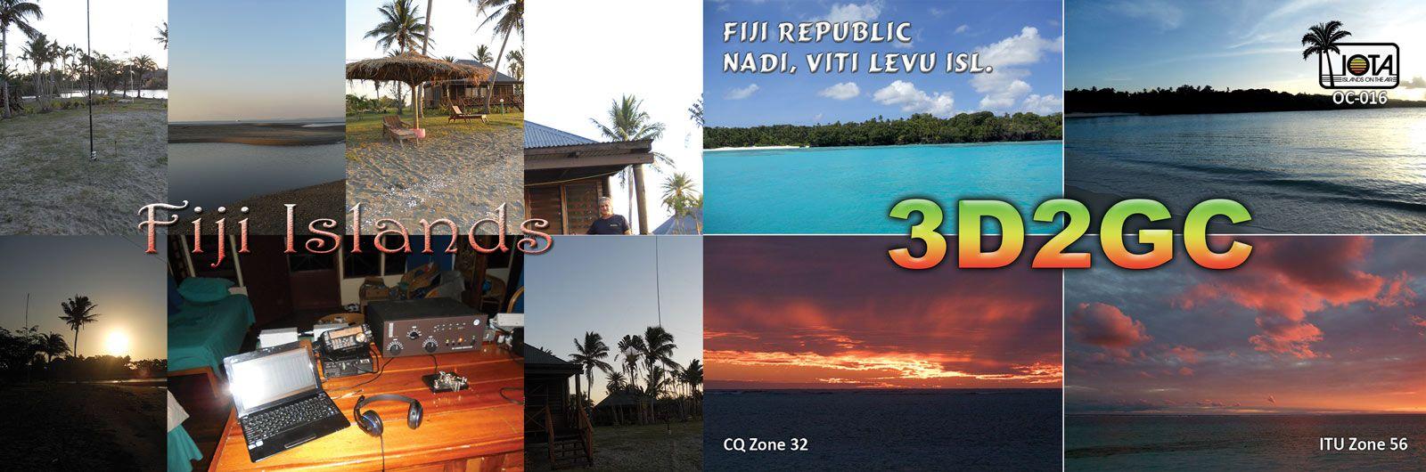 Остров Вити Леву 3D2GC острова Фиджи QSL