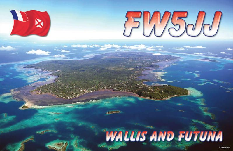 Wallis and Futuna Islands FW5JJ QSL