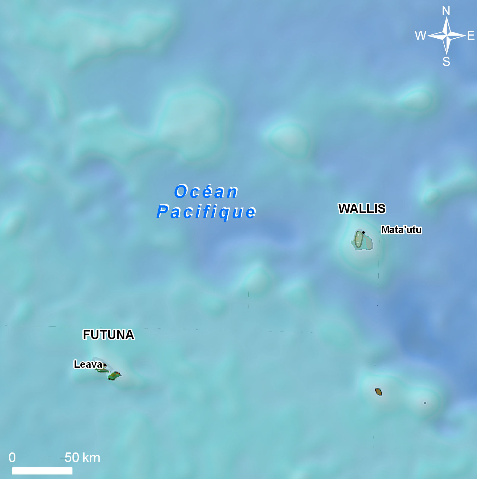Wallis Island Futuna Island TW0F FW0R MAP