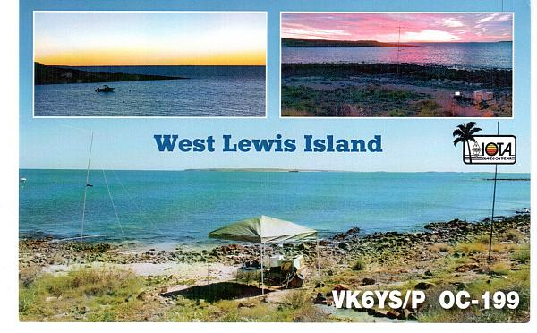 West Lewis Island VK6YS/P QSL