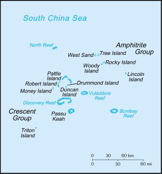 Остров Вуди Парасельские острова BA7CK Карта