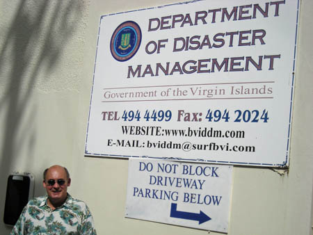 K6VVA VP2VQ George also took me to visit the Disaster Management Office