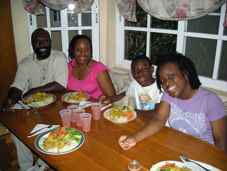 Enjoying meals with George VP2VQ and his family