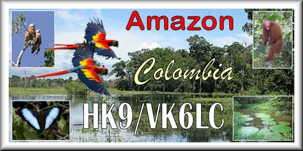 Colombia HK9/VK6LC Amazon QSL
