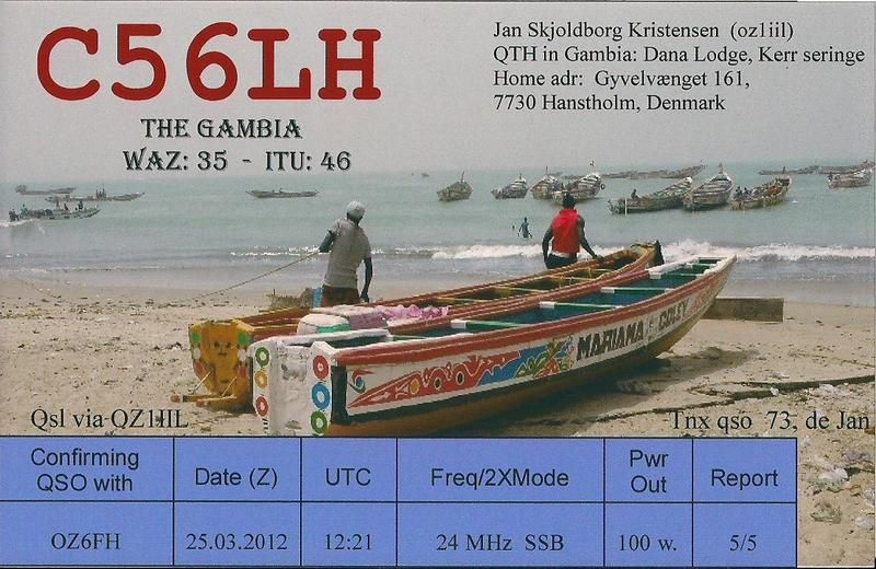 Gambia C56LH QSL