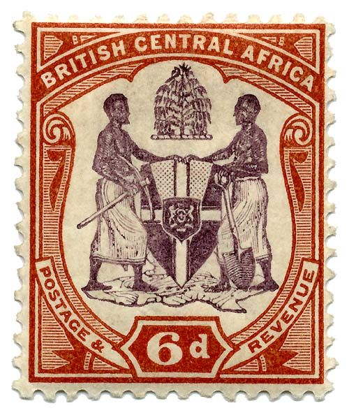 Malawi British Central Africa Stamp