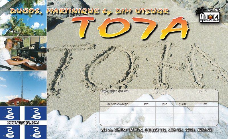Martinique Island TO7A QSL