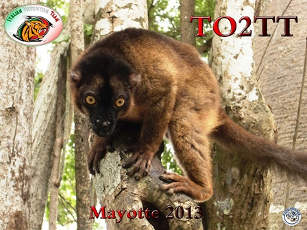 Mayotte Island TO2TT QSL