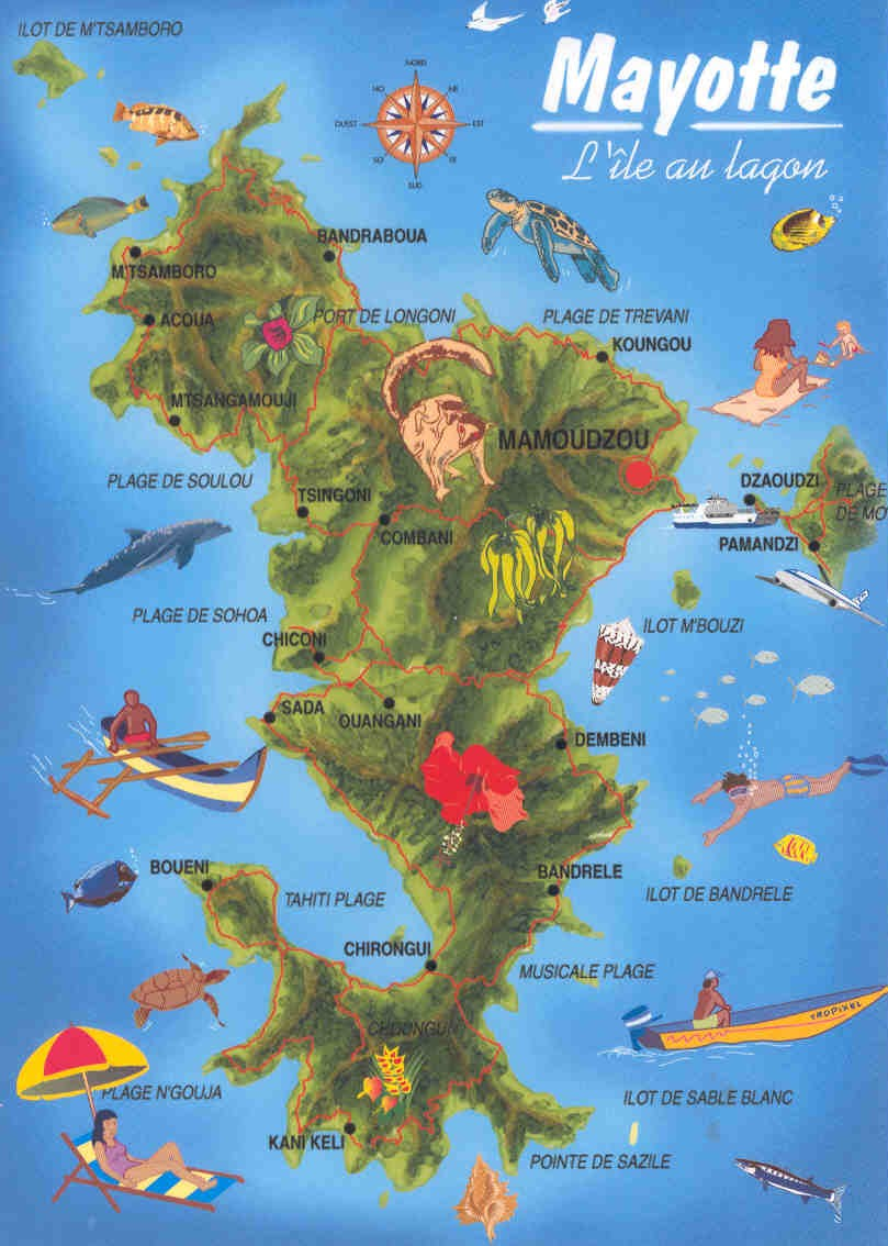 Mayotte Island TO4M MAP