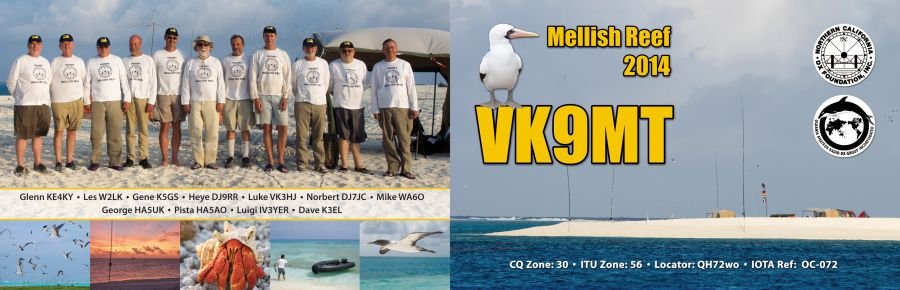 Mellish Reef VK9MT Double 4