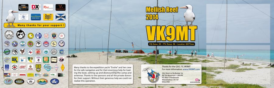 Mellish Reef VK9MT QSL Double Back 4