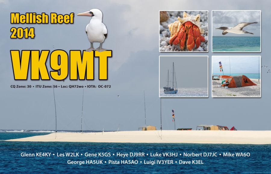 Mellish Reef VK9MT QSL Single 4