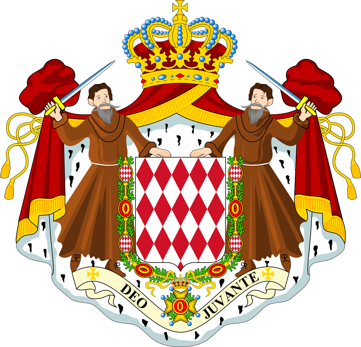 Monaco Coat of Arms Monaco 3A/I2GPT