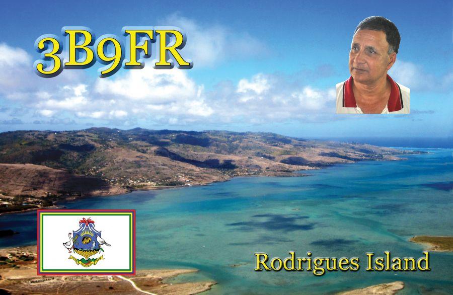 Остров Родригес 3B9FR QSL