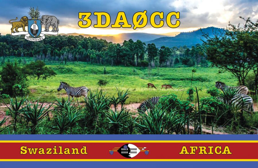 Swaziland 3DA0CC QSL