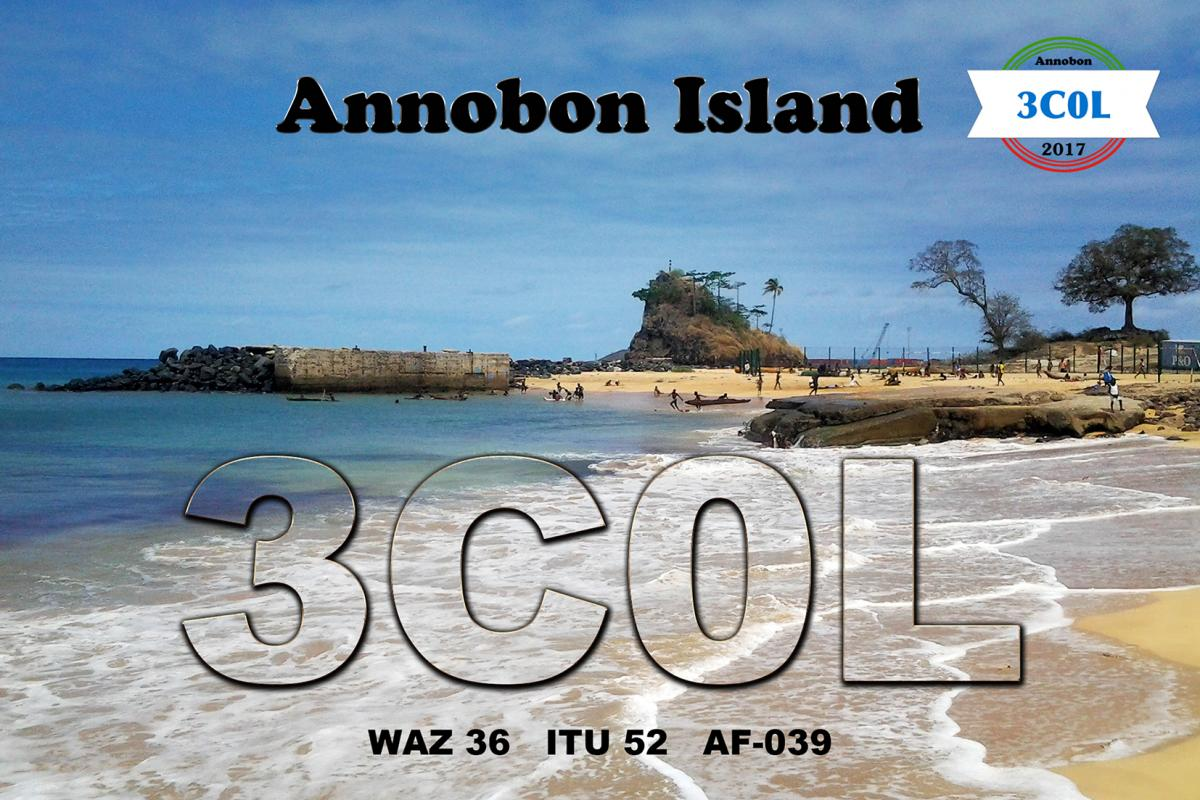 3C0L Остров Аннобон QSL