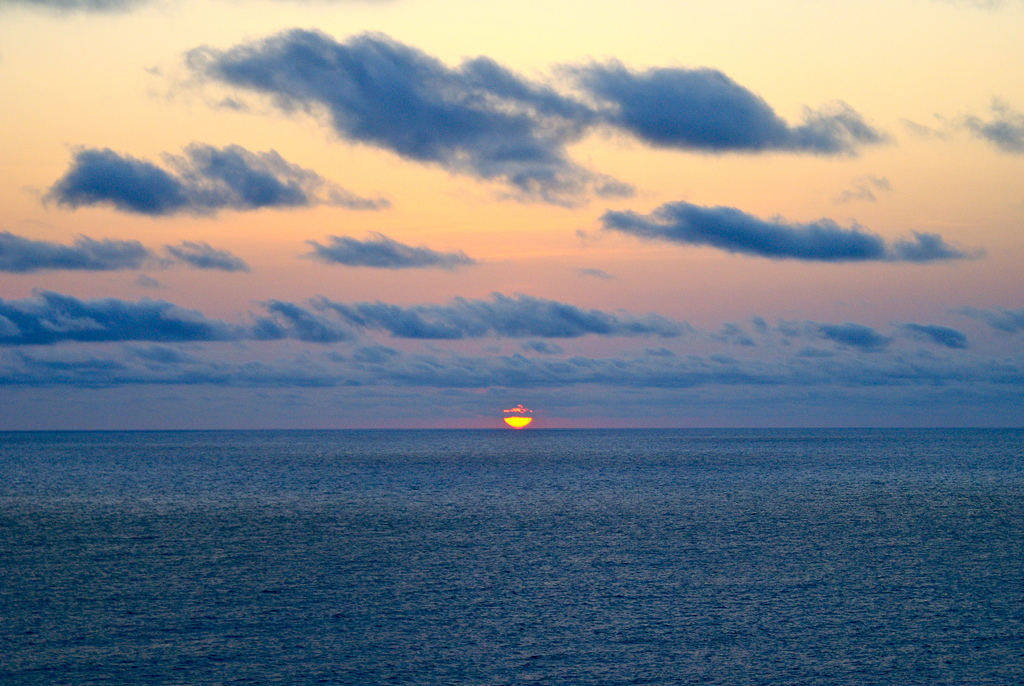 3C0L Закат Остров Аннобон Туристические достопримечательности