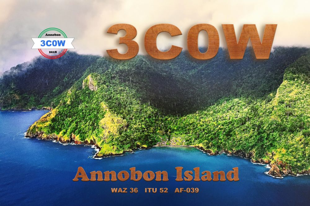 3C0W Annobon Island DX Pedition QSL