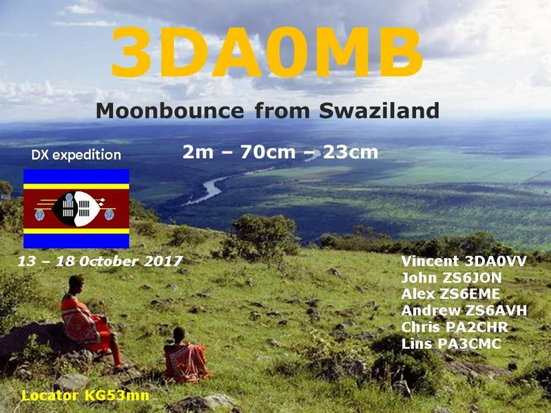 3DA0MB Swaziland Amateur Radio DX EME Expedition