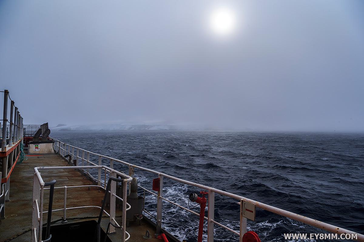 Leaving Bouvet Island