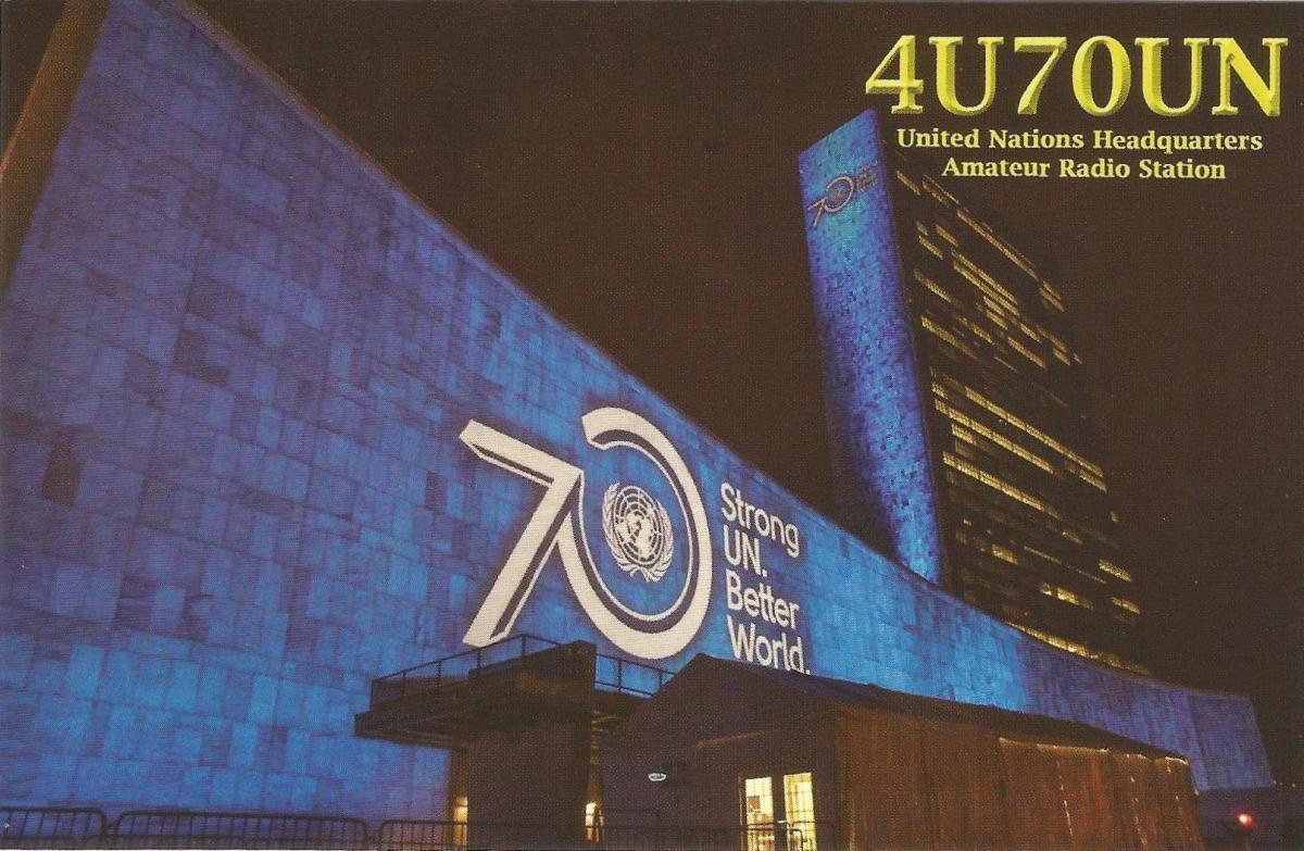 4U70UN United Nations QSL Card