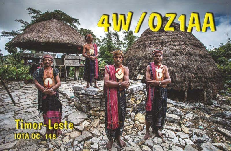 4W/OZ1AA East Timor QSL