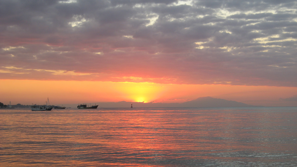 4W/OZ1AA Sunset, Dili, East Timor, Timor Leste. Tourist attractions spot